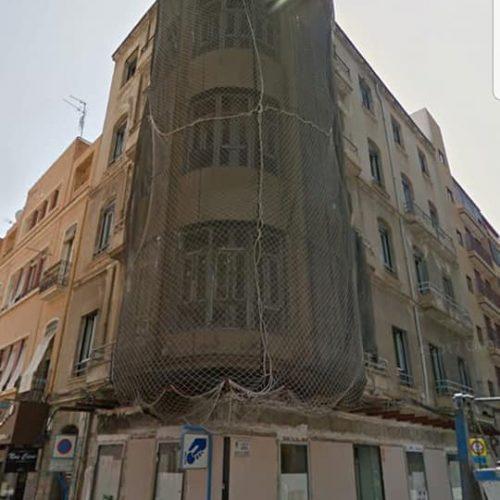 fachada por terminar